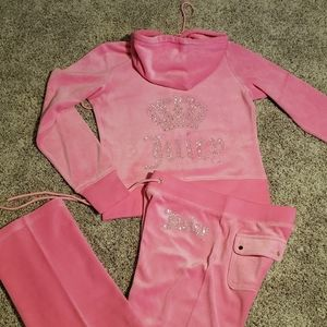 Juicy Couture Bling logo Velour Tracksuit